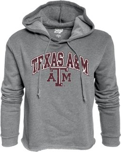 Blue 84 Women's Texas A&M University Cassie Crop Fleece Hoodie