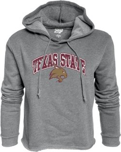 Blue 84 Women's Texas State University Cassie Crop Fleece Hoodie