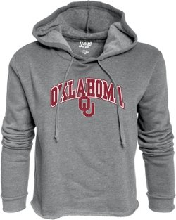 Blue 84 Women's University of Oklahoma Cassie Crop Fleece Hoodie