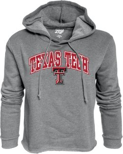 Blue 84 Women's Texas Tech University Cassie Crop Fleece Hoodie