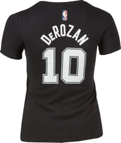 Nike Women's San Antonio Spurs DeMar DeRozan 10 Name And Number Dri-FIT T-shirt
