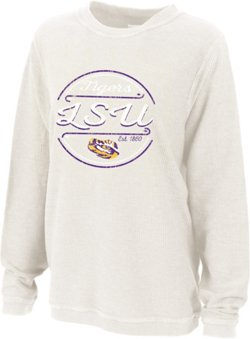 Women's Louisiana State University Rally Corduroy Plus Size Pullover