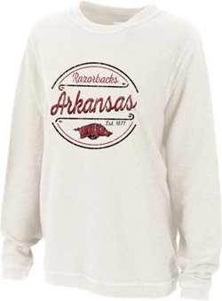 Women's University of Arkansas Rally Corduroy Plus Size Pullover
