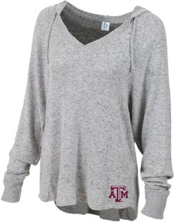 Boxercraft Women's Texas A&M University Plus Size Cuddle V-neck Hoodie