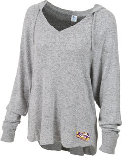 Boxercraft Women's Louisiana State University Plus Size Cuddle V-neck Hoodie