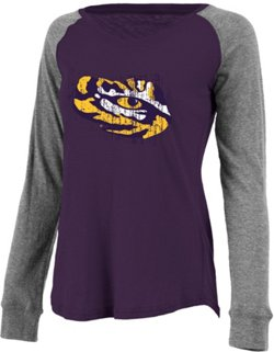 Boxercraft Women's Louisiana State University Preppy Patch Slub Plus Size T-shirt