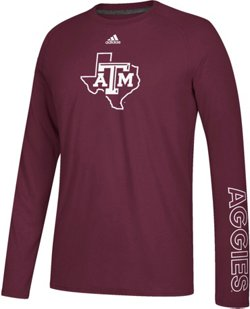 adidas Men's Texas A&M University Sideline Sequel climalite Ultimate T-shirt