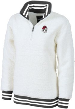 Women's University of Georgia Varsity Sherpa Pullover