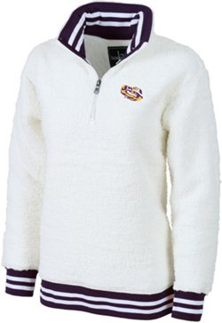 Women's Louisiana State University Varsity Sherpa Pullover