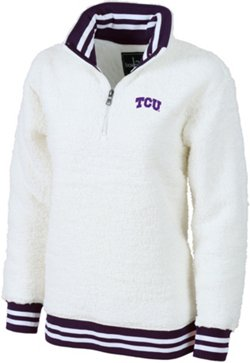 Women's Texas Christian University Varsity Sherpa Pullover