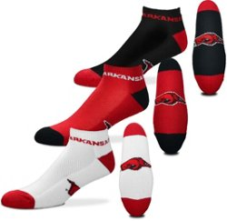 For Bare Feet University of Arkansas Low-Cut Money Socks 3 Pack