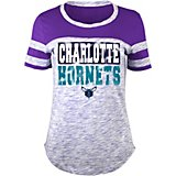 Women s Charlotte Hornets Space Dye Scoop T-shirt 03c1dfe83
