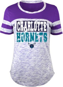 Women's Charlotte Hornets Space Dye Scoop T-shirt