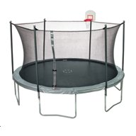 JumpZone 15 ft Trampoline with Enclosure and DunkZone
