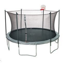15 ft Trampoline with Enclosure and DunkZone