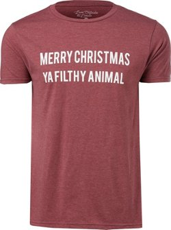 Live Outside the Limits Men's Merry Christmas Ya Filthy Animal T-shirt