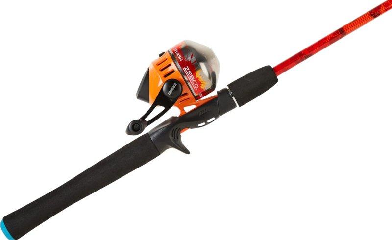 Zebco Splash Orange 6 ft M Freshwater Spincast Rod and Reel Combo, 3 – Spincast Combos at Academy Sports