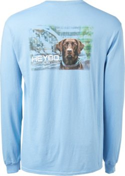 Heybo Men's Choco Flag Long Sleeve T-shirt