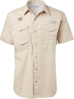 Columbia Sportswear Men's Houston Astros PFG Bonehead Fishing Shirt