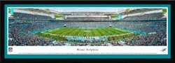 Blakeway Panoramas Miami Dolphins Hard Rock Stadium Single Mat Select Framed Panoramic Print