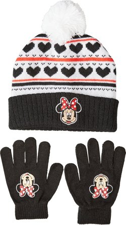 Disney Girls' Minnie Mouse Hat and Glove Set