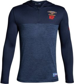 Under Armour Boys' New Orleans Pelicans Combine 1/4 Zip Tech Hoodie