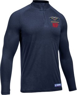 Under Armour Men's New Orleans Pelicans Combine Tech 1/4 Zip Pullover