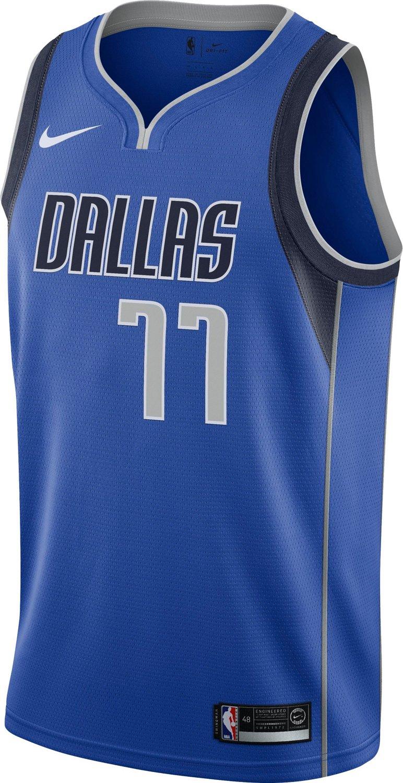 size 40 6d526 3d0ef Nike Men's Dallas Mavericks Luka Doncic 77 Icon Edition Swingman Jersey