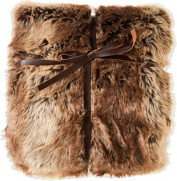Montauk Luxury Faux Fur 50 in x 60 in Throw