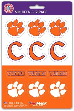 Team ProMark Clemson University Mini Decals 12-Pack