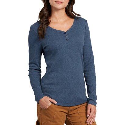 c27804fdc16 Dickies Women s Plus Size Long Sleeve Henley Shirt