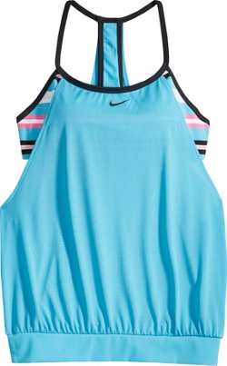 Nike Women's Sport Stripe Layered Tankini