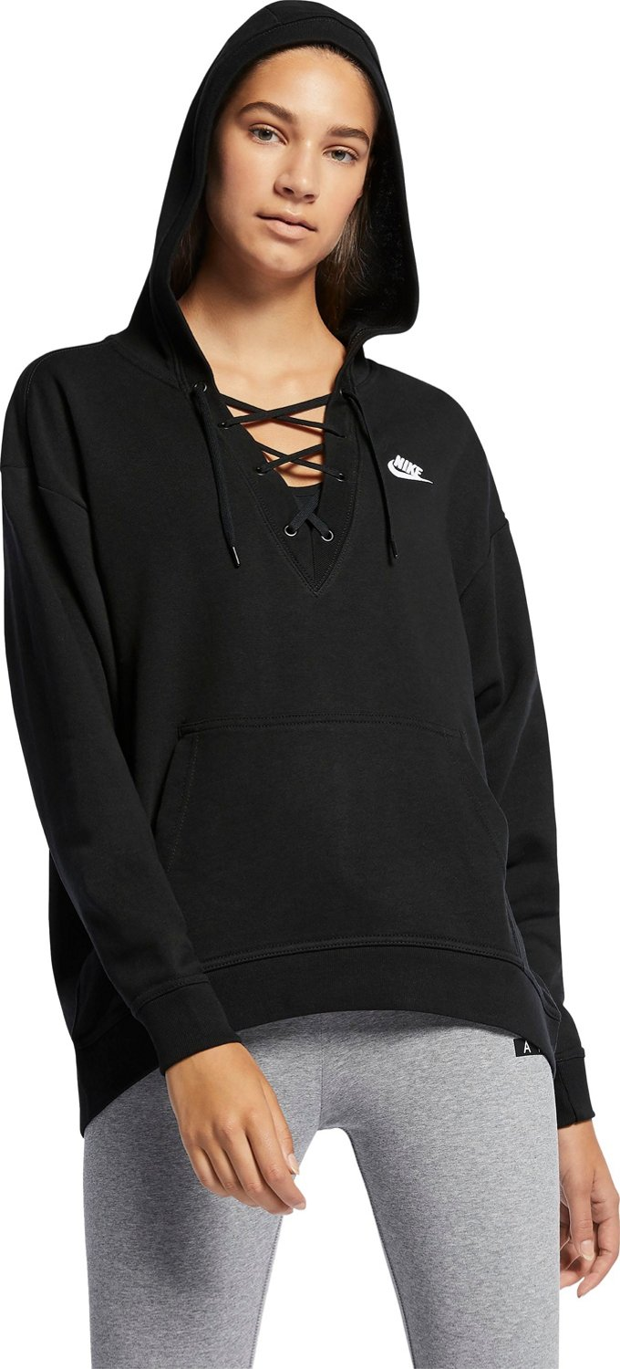 db152c1856d Display product reviews for Nike Women s Sportswear Lace-Up Hoodie