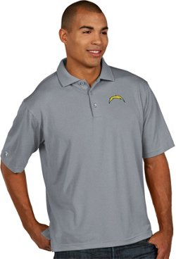 Antigua Men's Los Angeles Chargers Pique Xtra Lite Polo Shirt