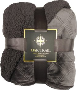 Oak Trail Velvet Berber 90 in x 90 in Blanket
