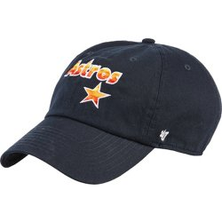 Houston Astros Rainbow Star Script Clean Up Ball Cap