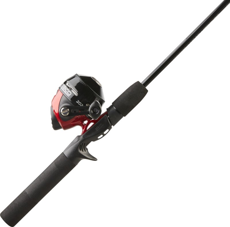 Zebco 202 5 ft 6 in ML Freshwater Spincast Rod and Reel Combo with Tackle – Spincast Combos at Academy Sports