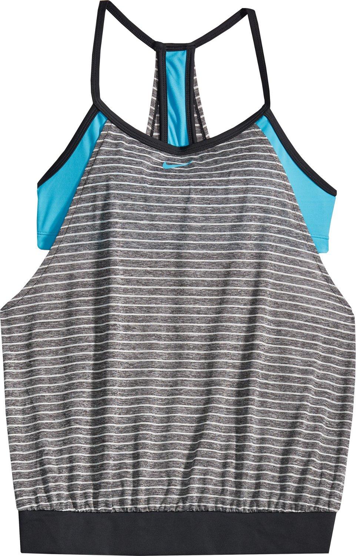 0b86a8a8628bf Nike Women's Swim Heather Stripe Layered Sport Tankini | Academy