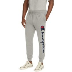Men's Vertical Logo Script Jersey Jogger Pants