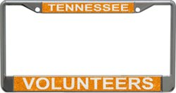 University of Tennessee Metal Glitter License Plate Frame