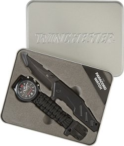 Winchester FMJ Folding Knife and Paracord Watch Combo