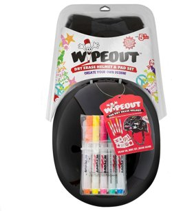 Wipeout Youth Bicycle Helmet and Pad Set
