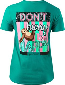 Love & Pineapples Women's Don't Hurry Be Happy T-shirt