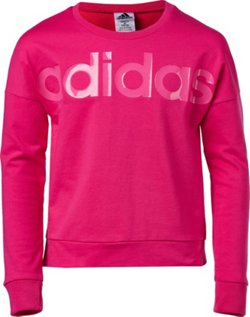 adidas Girls' Long-Sleeve Cropped Sweatshirt