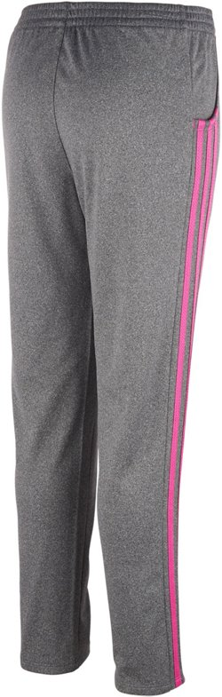 adidas Girls' Heathered Warm-Up Tricot Pants