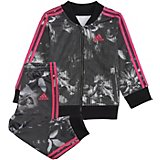 adidas Toddler Girls' Digital Floral Jacket and Pants Set