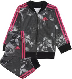 adidas Girls' Digital Floral Jacket Set
