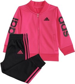 adidas Girls' Adi Love Jacket and Jogger Pants Set