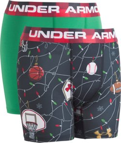 Under Armour Boys' String Lights Boxers 2-Pack