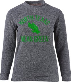 Three Squared Women's University of North Texas Thin Arch Comfy Terry Pullover